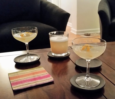 Giant Feller and Corpse Reviver cocktails