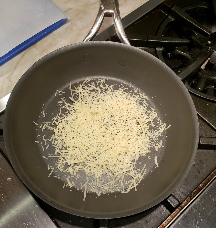 Eat Your Hearts Out - Parmesan cheese crisp, step 1