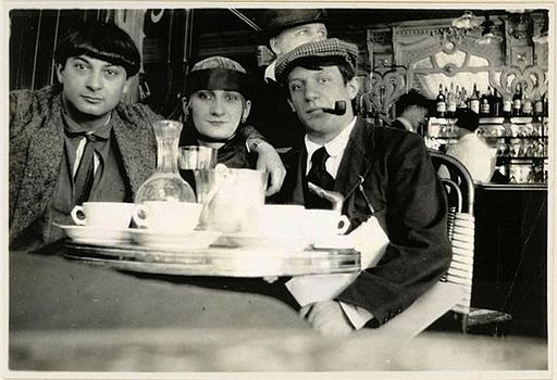 Pablo Picasso and friends, Paris, 1916