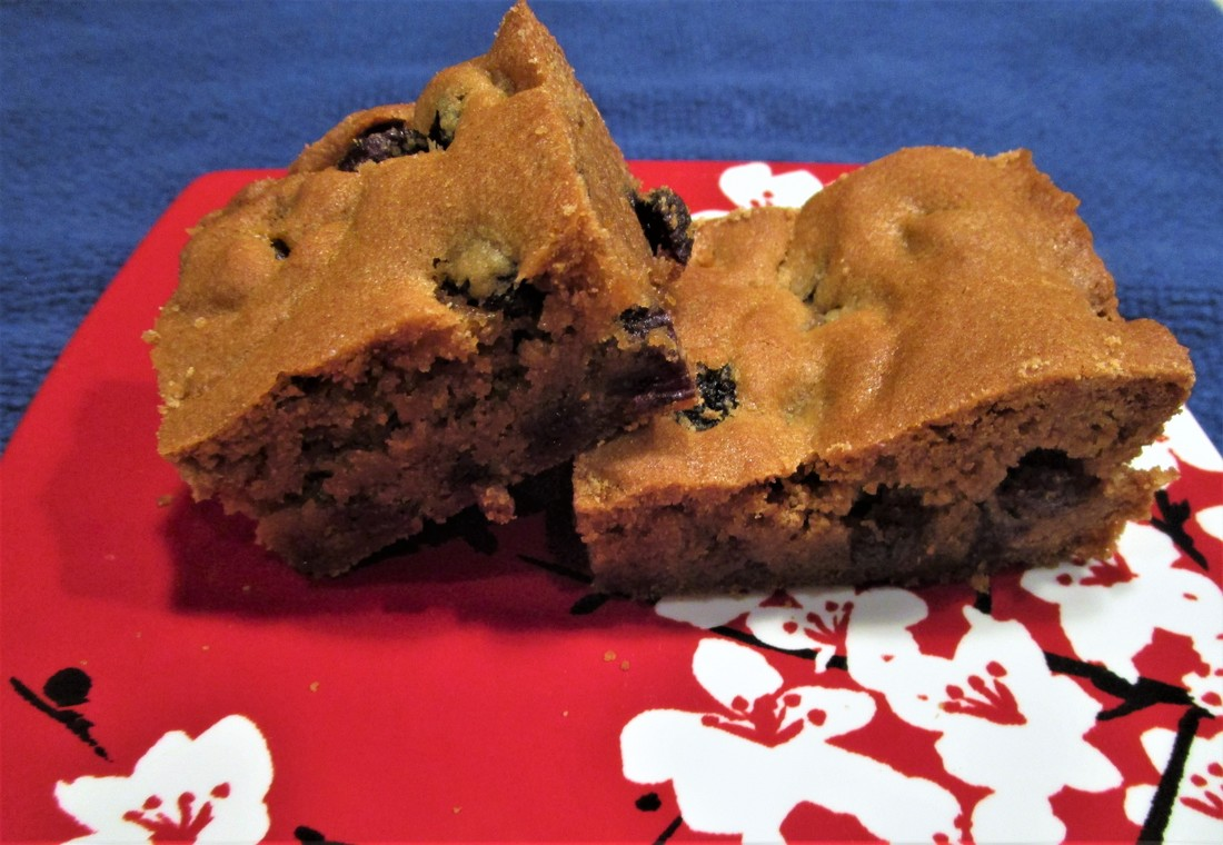 Rum Raisin Blondies