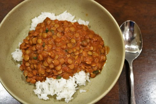 Crockpot Red Curry Lentils