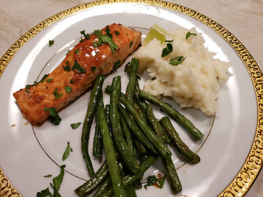 Miso-Maple Salmon with Green Beans