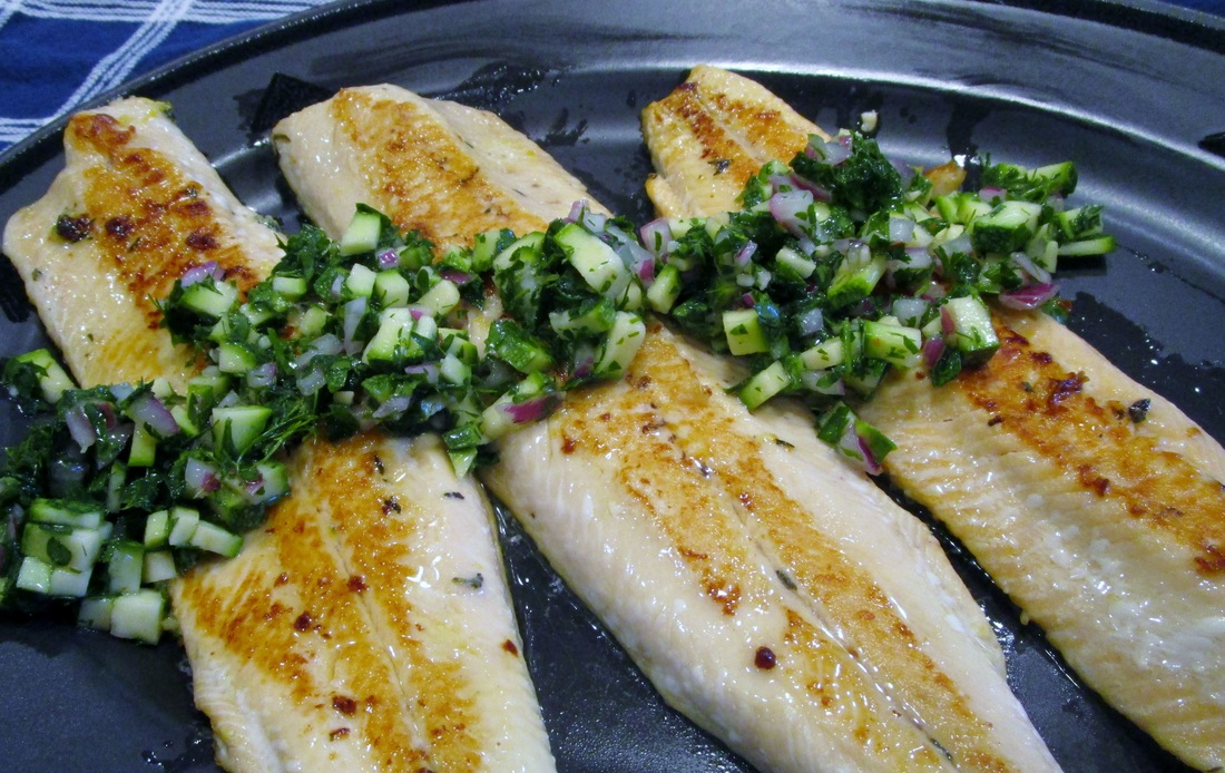 Marinated Arctic Char with Salsa Verde