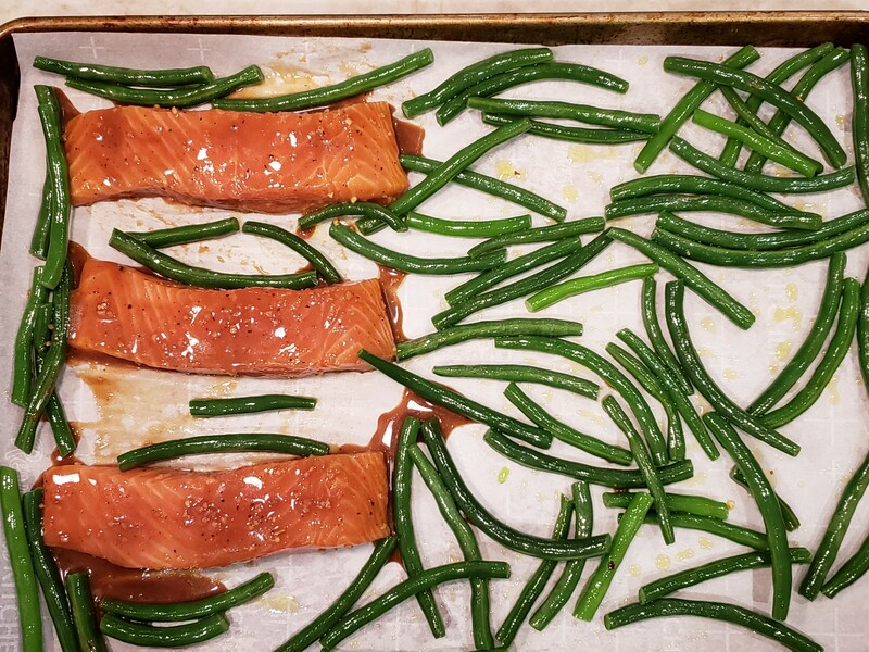 Maple-Miso Salmon with Green Beans